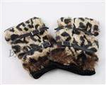 Rękawiczki damskie zimowe mitenki - panterka
