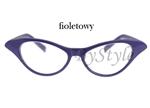 Okulary Cat Eye - fioletowe